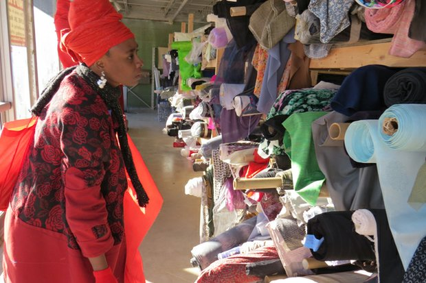 Lanetta Strong , who was shopping at the new Memorial Drive site on Jan. 8, said the store has a large variety of fabrics and great prices.