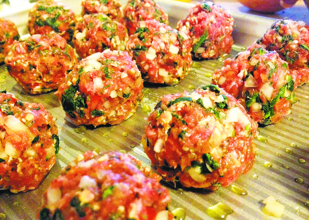 Option one: Bake meatballs