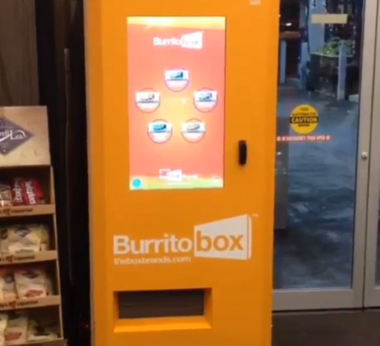 In a new high for food distribution technology (and a new low for Mexican cuisine), the Burrito Box company has ...