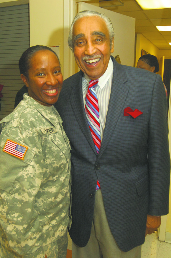 U.S. Army Reserve Sgt. Felecia Parker, who served 11 years in the U.S. Navy and joined the U.S. Army Reserve ...