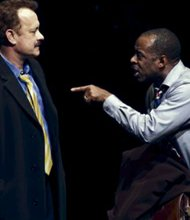 "Courtney B. Vance with Tom Hanks in ""Lucky Guy"""