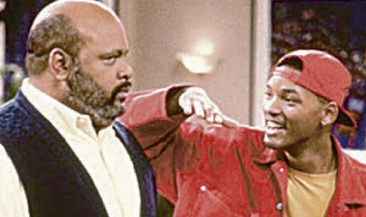 "James Avery and Will Smith on ""The Fresh Prince of Bel-Air""."