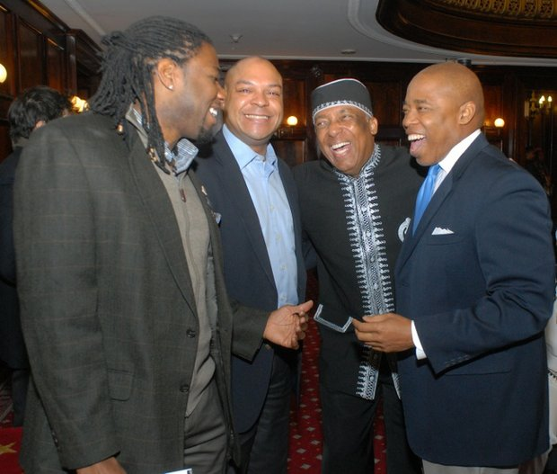 Council Member Jumaane Williams, Assemblymn Karim Camara, Charles Barron and Brooklyn Borough President Eric Adams