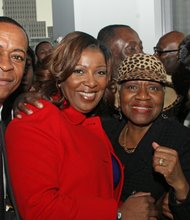 John Brown, Public Advocate Letitia James, C. Virginia Fields and Hazel Dukes