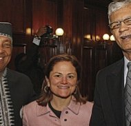 Charles Barron, Speaker Melissa Mark-Viverito and Mayor Chokwe Lumumba Jackson Miss. 