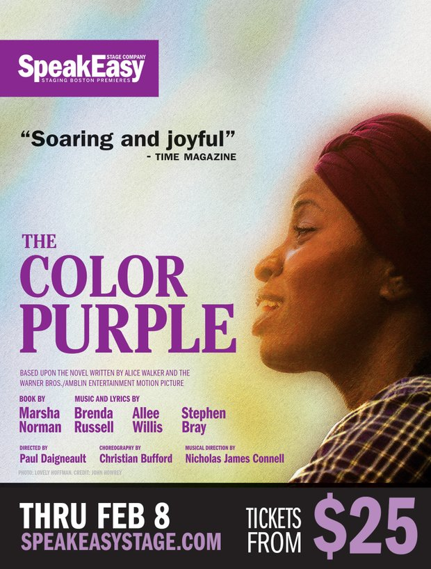 Enter our raffle for a chance to win a pair of tickets to the production of Color Purple by SpeakEasy Stage Company and starring local talent.  We have ten pairs of tickets for performances between Jan. 10th and February 8th.  The drawing will be held at noon on Wednesday, Jan. 15th.  Winners will be contacted by email.