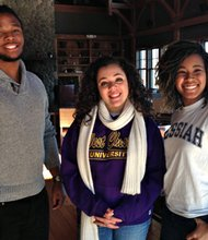 Three current scholarship recipients at a lunch held for them on Wednesday, January 8, 2014. (Left to right) Terrance Brownlee, Towson University; Maria Ricker, West Chester University; and Alana Anthony, Messiah College. The application for scholarships along with all other information is available at: www.annapolistrust.org. Application deadline is due not later than February 1, 2014.