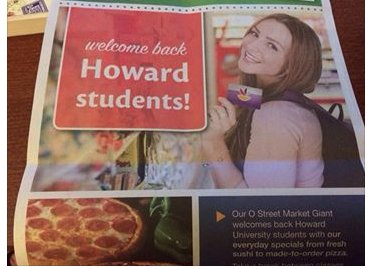 Officials for the Giant grocery chain have issued an apology to the Howard University community after using a stock photo ...