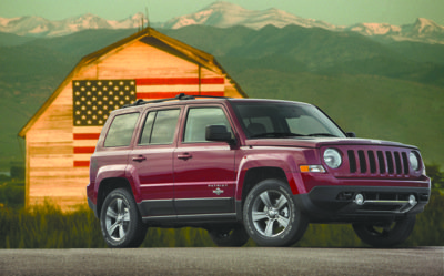 Jeep Patriot's interior looks nice enough, if a little utilitarian. Its low price and decent off-road capability will appeal to drivers who crave weekend-warrior ruggedness. (Courtesy of Chrysler Group LLC)