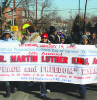 Last year's Peace Walk in the District replicated Dr. King's march across the Edmund Pettus Bridge in Selma, Ala. (Courtesy of the United Black Fund)