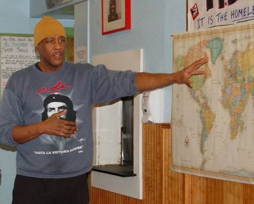 In a land where sunny days and black bodies are sparse in numbers, California-bred activist Ahjamu Umi sees 35,000 rays ...