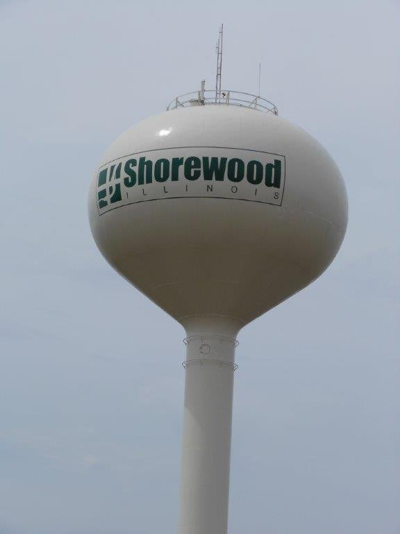 Shorewood water tower on Black Road