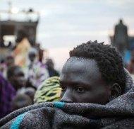 Sudanese boat survivor