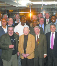 "St. John's University alumni, former star athletes, coaches and administrators turned out in full at the event, hosted by Mel Davis and Billy Schaefer, former teammates at ""The John."""