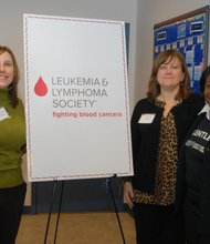 The Leukemia & Lymphoma Society (LLS) staff: Tracy Orwig, Director, LLS Patient Access, Education & Advocacy, Jacqueline Stem, LLS Donor Development Director and LaVerne Perry, LLS Patient Navigator