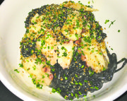 Ink Pasta with Octopus