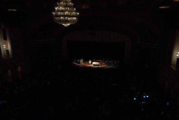 Amiri Baraka lays in repose at the Newark Symphony Hall in Newark, NJ on Saturday, January 18. Baraka died Jan. 9 of an undisclosed illness.