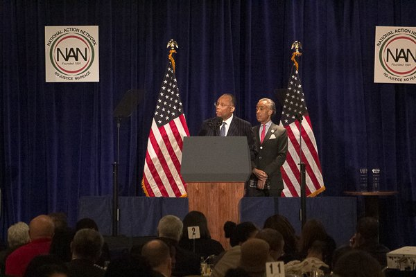 Larry Thompson, PEPSICO executive vice president of government affairs and general counsel and corporate secretary received the Economic Justice Award at the NAN King Day Breakfast at the Mayflower Hotel in Northwest on Monday, Jan. 20.