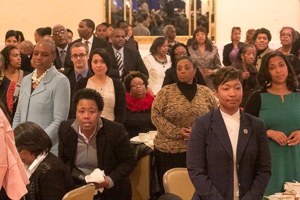 Guests attending the National Action Network King Day Breakfast at the Mayflower Hotel in Northwest on Monday, Jan. 20.