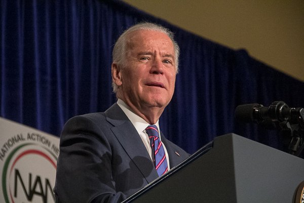 U.S. Vice President Joe Biden delivers the keynote address at the National Action Network's King Day Breakfast at the Mayflower Hotel in Northwest on Monday, Jan 20.