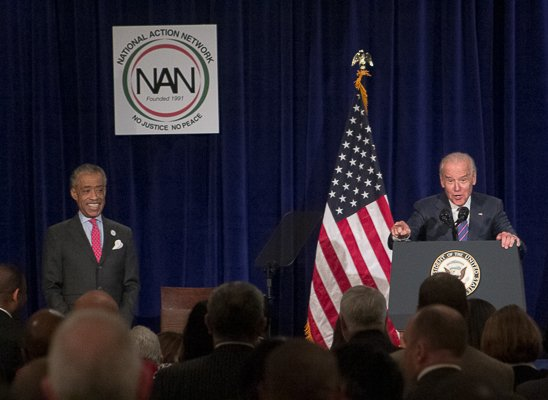 U.S. Vice President Joe Biden speaking at the National Action Network King Day Breakfast on Monday, Jan. 20 at the Mayflower Hotel in Northwest.