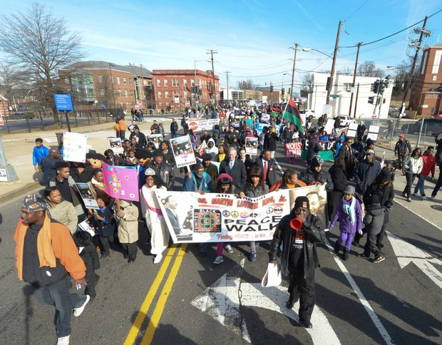 Hundreds gather for the 8th Annual Dr. Martin Luther King Jr. Peace Walk on Monday, January 20.
