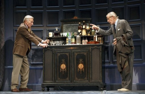 "Ian McKellen and Patrick Stewart in ""No Man's Land"""
