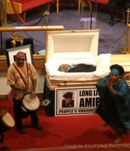Drummers and dancers at the funeral