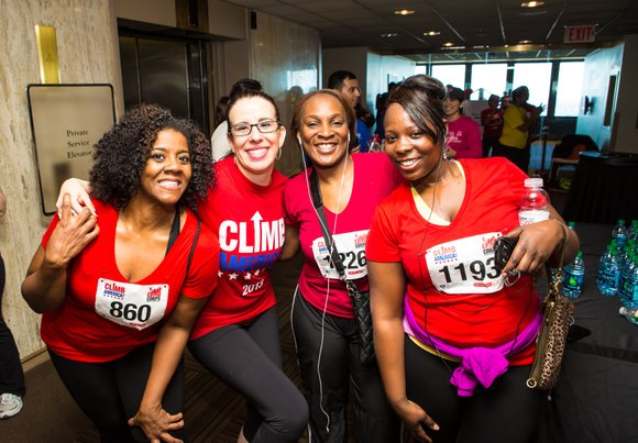 Brigham and Women's Hospital's Climbathon participants will be taking the stairs of Exchange Place to promote a healthy lifestyle. Stairs ...