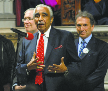 Scott Stringer, Charles Rangel and William Wachtel