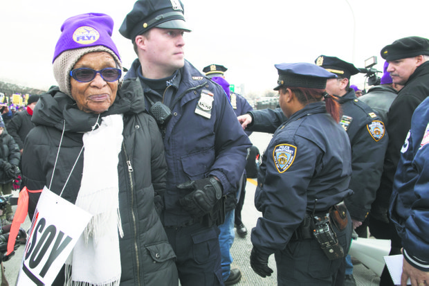 Airport workers and supporters arrested at MLK day protests