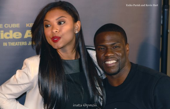 Kevin Hart is laughing off reports that he's been unfaithful to his pregnant wife.