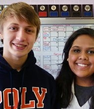 Baltimore Polytechnic Institute seniors Lucas Winch and Kelly Khare are semifinalists in the Intel Science Talent Search. Winch and Khare are students of The Ingenuity Project, Baltimore City's fast-track public school program for excellence in math and science.