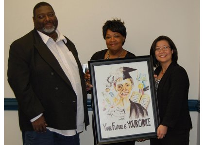 (Left to right) WASP Coalition Chair Derrick Farmer, Hands of Hope CEO Sherry Medley and Acting County Health Officer Dr. Jinlene Chan.