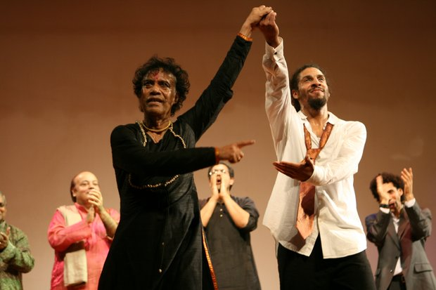 Indian Kathak guru Pandit Chitresh Das and African-American tap star Jason Samuels Smith