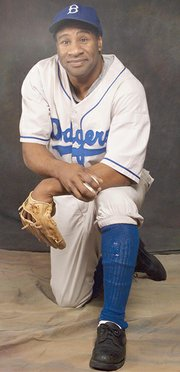 Mad River Theater Works actor Steven Rice stars as Jackie Robinson.