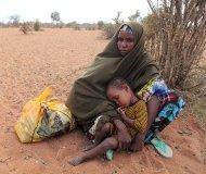 Somali refugee in Kenyan camp