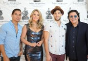 Photo L to R - singer/actor Julio Iglesias Jr, Brazilian chef Isa Souza, singer Mikey Delease (E! TV show Married to Jonas), and music composer & producer Rudy Perez   