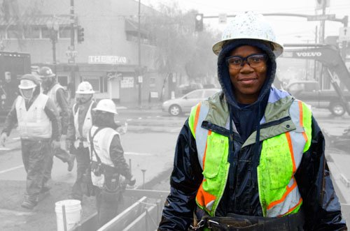 What is it like to be a black woman working in the construction trades in America? And if I'm not ...