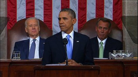 President Barack Obama delivers the 2014 State of the Union Tuesday, January 28, 2014.