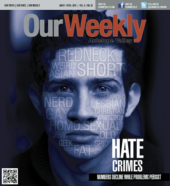 The number of hate crimes reported and prosecuted throughout Los Angeles County has dipped during the past five years, but ...