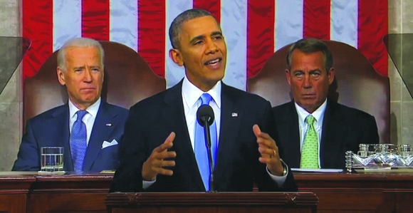 President Barack Obama gave his State of the Union address Tuesday evening