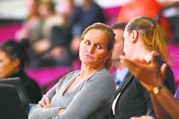 Fordham head coach Stephanie Gaitley has her Lady Rams team moving upward. (Photos courtesy of Fordham University)