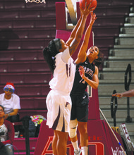 Fordham's Mary Nwachukwu continues her impressive roundball growth at Fordham University.
