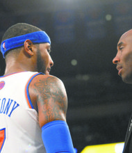 Carmelo Anthony and Kobe Bryant (Bill Moore photos)