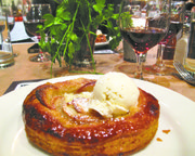 Apple tart and muscat