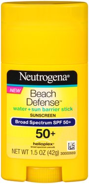 NEW!  NEUTROGENA® BEACH DEFENSE® Stick Sunscreen Broad Spectrum SPF 50+