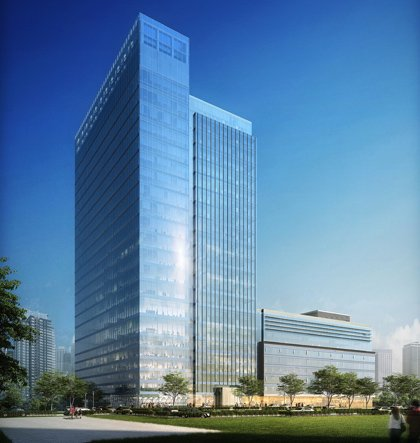 A rendering of the Harbor Point project, which will also serve as Exelon's Constellation business unit. The 350-feet tall building will feature a 24-hour trading floor.