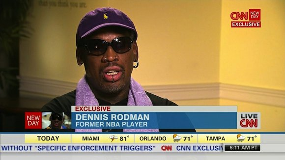 Dennis Rodman says he's not a diplomat, just a former NBA star fighting addiction and trying to be a better ...