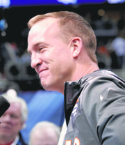 Peyton Manning will be looking downfield, hoping to throw touchdown darts.